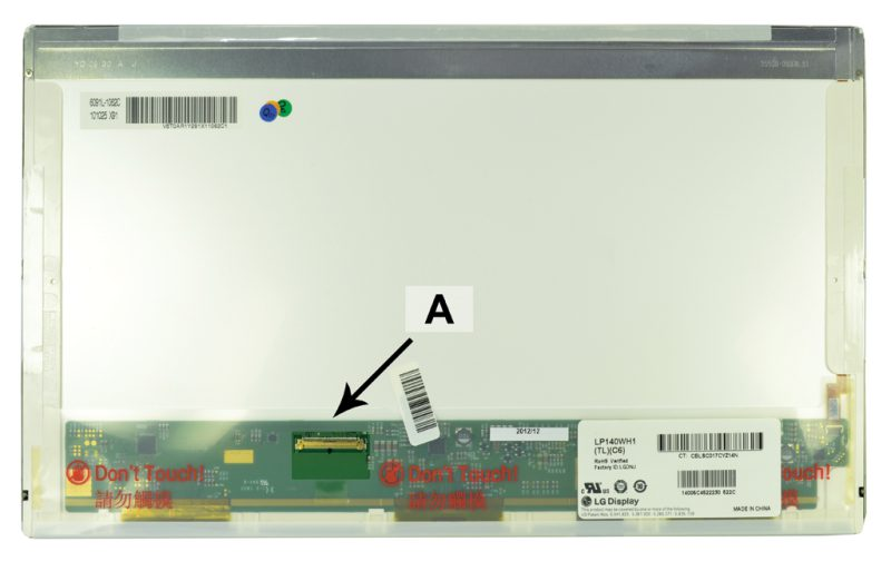 Laptop scherm LTN140AT07-D01 14.0 inch LED Glossy