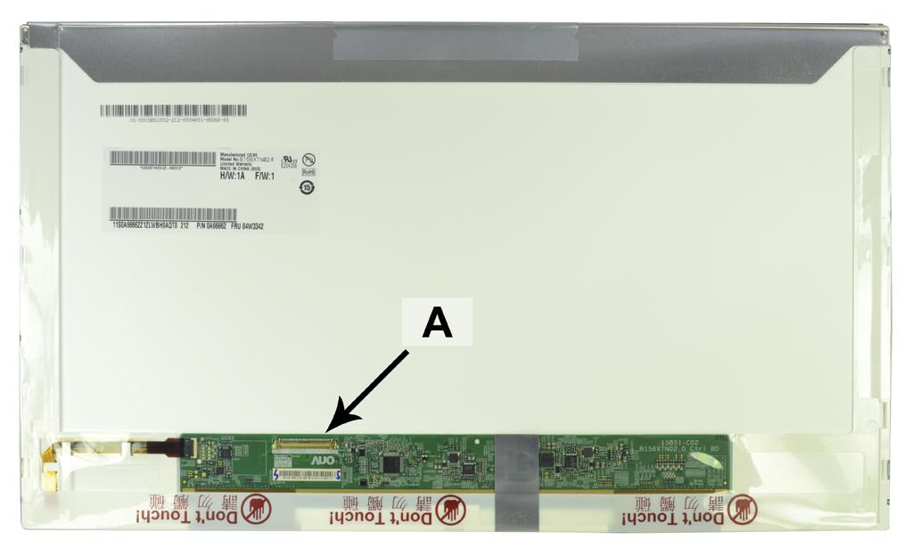 Laptop scherm B156XW02V2L 15.6 inch LED Glossy